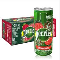不含糖0卡,Perrier 巴黎水 气泡矿泉水 草莓味 250MLx30罐