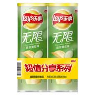 Lay's 樂事 黃瓜味 薯片 104gx2桶