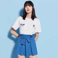 1折,PeaceBird 太平鸟 女士 高腰短裤