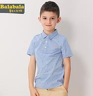 100%棉:巴拉巴拉 儿童短袖Polo衫
