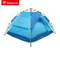 內帳可單獨使用,探路者 三人 免搭速開 雙層帳篷