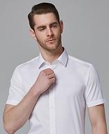 阿玛尼同款面料 机洗免熨烫:诺贝奥 长绒棉短袖衬衫