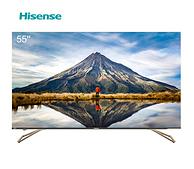 3+64g内存+金属无边全面屏:Hisense 55英寸 4K液晶电视 H55E75A