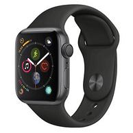 历史低价:Apple 苹果 Apple Watch Series 4 智能手表 (深空灰铝金属、GPS、40mm、黑色运动表带)