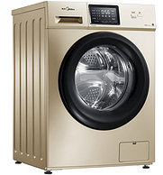 低温空气洗+蒸汽烘干+巴氏除菌!10公斤 美的 MD100V31DG5 变频滚筒洗烘一体洗衣机