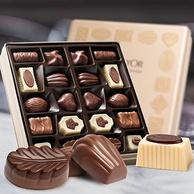 520礼物,比利时进口 爱普诗 夹心巧克力 216g铁盒装