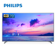 70寸巨幕、4K、HDR:飞利浦 70PUF6894/T3 70寸 4K超高清智能液晶电视机