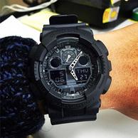 结束!第113期团购!霸气硬盒装、国内无售:卡西欧 G-shock Protection GA100-1A1CR手表