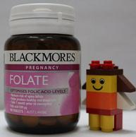 备孕、怀孕必备! 500μg 90片x2瓶装 澳洲 Blackmores 澳佳宝 孕妇叶酸营养片