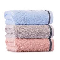 3条 洁丽雅 纯色织缎 108g 毛巾76X35cm
