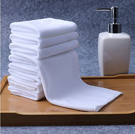 壹号桌 细纤维白色家用酒店毛巾 3条装