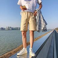 笔蕴 男士 95%棉 工装短裤