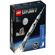 歷史新低!拼裝高度達1米!LEGO 樂高 21309 NASA 阿波羅計劃 土星5號運載火箭