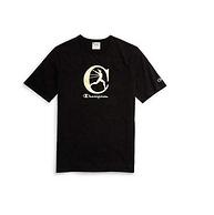 白菜价:Champion 冠军牌 男士烫金短袖T恤