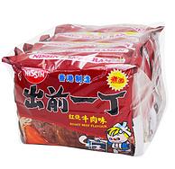 NISSIN 出前一丁 方便面红烧牛肉味 100gx5包