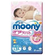 moony 尤妮佳 婴儿纸尿裤 L 54片x4件