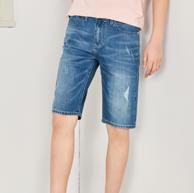 森马 男士牛仔短裤