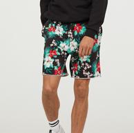 18日0点:H&M 男士 印花沙滩裤