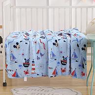 100%棉 可机洗 不结团:Disney ?#40092;?#23612;空调被 110x150cm