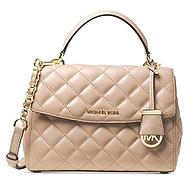 Michael Kors Ava 小号绗缝格纹皮质手提包