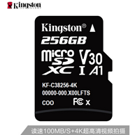 读速100Mb/s,金士顿 256G 高速Plus版 TF存储卡