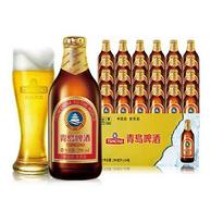 青岛啤酒 小棕金 金质小瓶296mlx24瓶x2箱