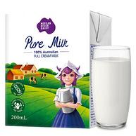 澳大利亚原装进口 尼平河 全脂纯牛奶 200mlx24盒x3件