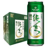 珠江啤酒 9度 珠江纯生啤酒 500mlx12听x2件