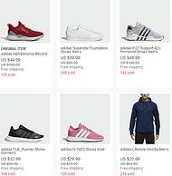 eBay adidas阿?#27927;?#26031; 官方店大促 下单8折+用码满88-15美元