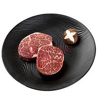 高端澳洲和牛! 200gx2件 天谱乐食 澳洲黑毛和牛 日式小份牛排