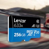 支持4K视频,Lexar 雷克沙 256G UHS-I TF存储卡