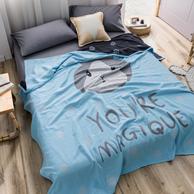 100%纯棉、可裸睡:婉寇 双层纱布空调被 150x200cm