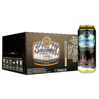 德国进口 Schaumhof 雪夫啤酒 小麦黑啤酒 500mlx24听