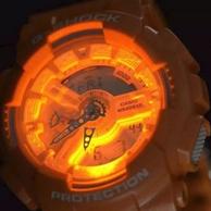骚气橙!Casio 卡西欧 G-Shock系列 GA110SG-4A 男士双显运动手表