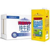 荷兰乳牛 高钙脱脂纯牛奶 1Lx6盒x3件