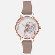 Olivia Burton 绘图动物系列 猫头鹰 女士时装腕表