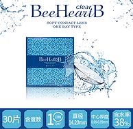 含水量仅普通款2/3:台湾 BeeHeartB 日抛 隐形眼镜 30片