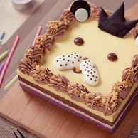 京东Plus、限地区:1.2磅 贝思客 狮子座 星座生日蛋糕