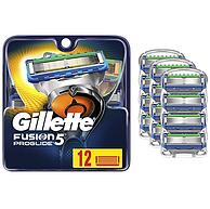 12片,Gillette 吉列 Fusion5 ProGli 男士刮胡刀刀片 到手约192.2元包邮包税