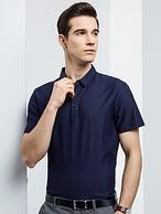 5分好评 专柜款 免熨烫:罗蒙 莫代尔棉混纺 男士Polo衫