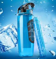 Tritan材质+自带2小时冰饮:美国 coolgear 运动水杯 936ml
