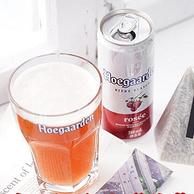比利时风味:310mlx24听 Hoegaarden 福佳 玫瑰红啤酒