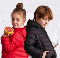 反季低價、4.9分:七匹狼 兒童中大童連帽羽絨服 多色