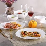 白菜价!微波炉可用:18件套x2件 Luminarc/乐美雅 时光餐具套装