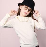 100%純棉、柔軟不扎身:105~170碼 souhait/水孩兒 女童 線衣打底衫
