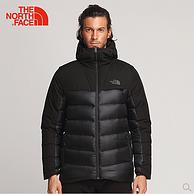 800蓬+防潑水面料!The North Face北面 3KTD 超保暖羽絨服