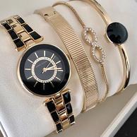神价格:Anne Klein  勃艮第手表和手链套装 AK/3286BYST