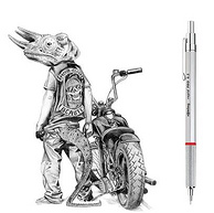 专业制图、京东Plus:银色 0.7mm rOtring/红环 Rapid Pro自动铅笔