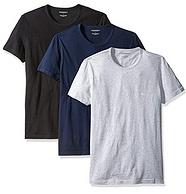 3件装!L码:Emporio Armani 安普里奥·阿玛尼 男士棉质圆领T恤