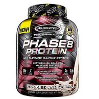 2倍差价:4.6磅 Muscletech/肌肉科技 Phase 8缓释蛋白粉